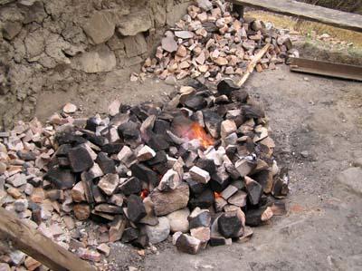 hot stones for Bhutan bath
